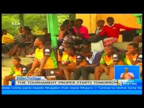 Umoja School Nairobi win the Great Rift Ten a Side rugby tournament.