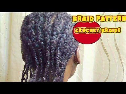 Natural Hair| Protective style|Braid Pattern for Curly Crochet Braids