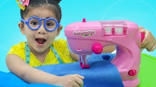Suri Pretend Play w/ Toy Sewing Machine & Princess Dress Shop Kid Toys
