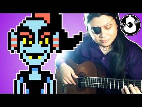 Undertale - Spear of Justice (Flamenco Guitar Cover/Remix)   Undyne Normal Battle