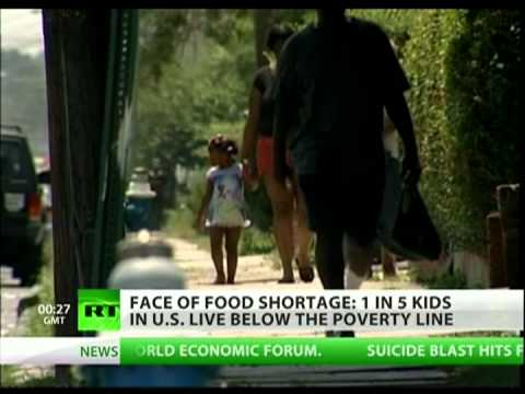 Hungry and poor children in America