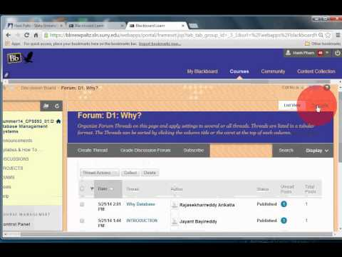 How to find your KEY, POST, REPLY, edit and delete messages for DISCUSSIONS at Blackboard