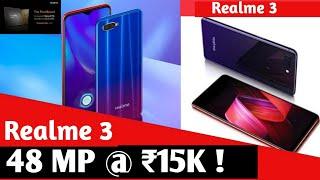 Realme 3 price & launch date in India & Specification  48 MP Camera @ 15K   Redmi Note 7 Killer.