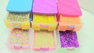"""Làm 6 Loại Slime Màu Sắc"""" Slime Kẹo, Slime Mè, Slime Xốp, Slime Kim Tuyến [ Chị Bí Đỏ ]  ĐỒ CHƠI"""