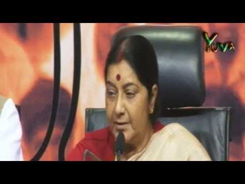 LIVE: BJP Press by Smt. Sushma Swaraj on Parliament Session: 30.04.2013
