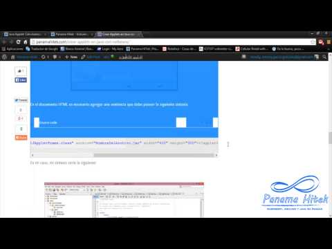 Tutorial: Creando Applets en Netbeans (HD)