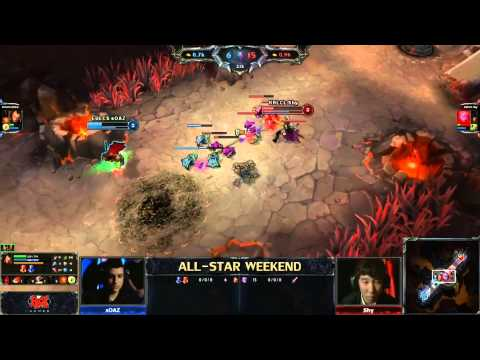 2013 ALL-STAR LoL 1v1 top lane final game (sOAZ) vs (Shy)