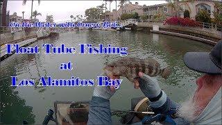 Float Tube Fishing - Los Alamitos Bay Action!