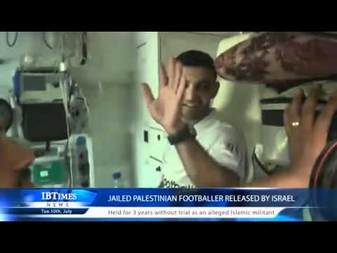 Jailed Palestinian footballer released by Israel
