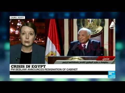 Egypt: PM Beblawi announces resignation of cabinet