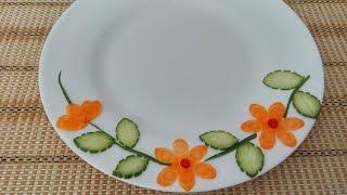 Vegetable Plate Decoration (01)     Vietnam Food Channel