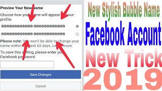 🛡☑New stylish Bubble Name Facebook Account 2019☑🛡
