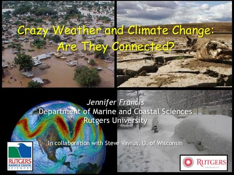ICLR Friday Forum: Are crazy weather and climate change connected? (March 6, 2015)