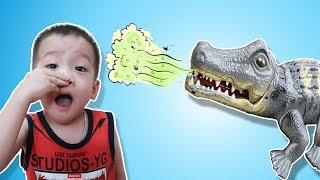 Trò Chơi Cá Sấu Lười Đánh Răng và Bài Học Cho Bé| Gia Đình Baby Shark