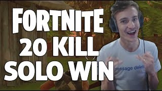 20 Kill Solo Win - Fortnite Gameplay - Ninja