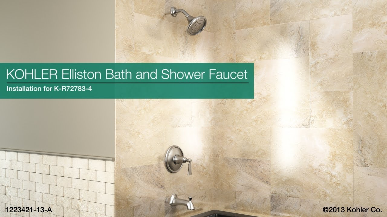 installation elliston bath and shower faucet youtube
