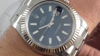 Rolex Oyster Perpetual Datejust II 116334 Blue Dial Luxury Watch Review