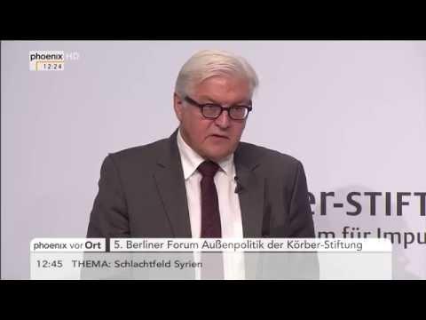 Forum Außenpolitik: Frank-Walter Steinmeier & Jean Asselborn zur Flüchtlingsfrage am 10.11.2015