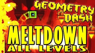 Geometry Dash Meltdown ~ The Seven Seas, Viking Arena, and Airborne Robots (ALL COINS)