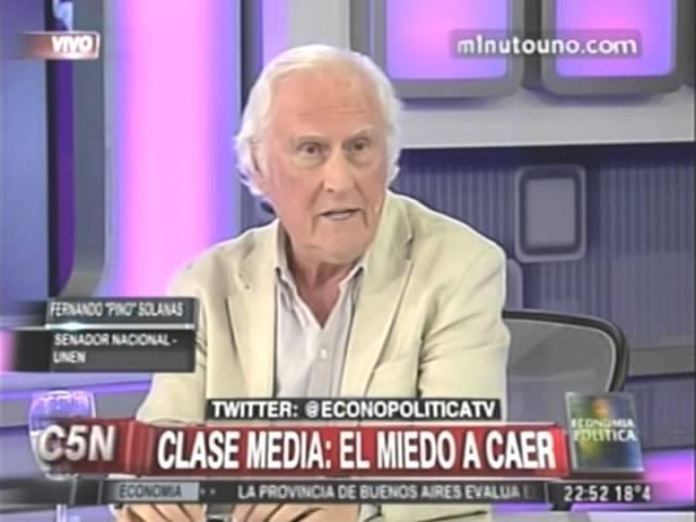 Pino Solanas en Economia Polìtica 19 10 14