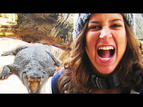 Girl VS Gator!! (11.27.09 - Day 211)