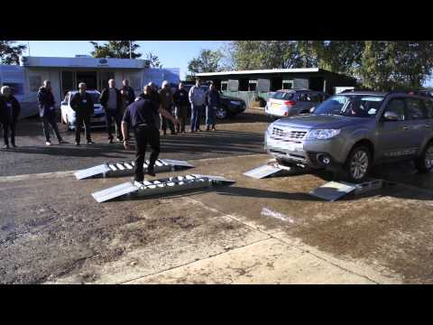 Live demonstration of Subaru Forester and Outback's 4x4 symmetrical all wheel drive system