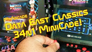 MyArcade's Data East Classic's 34n1 MiniCade!