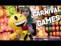 My Girlfriend plays all the Carnival Games at Belmont Park San Diego| Winning ALOT!