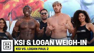 KSI & Logan Paul Weigh-In & Face-Off Ahead Of Their Boxing Pro-Debuts