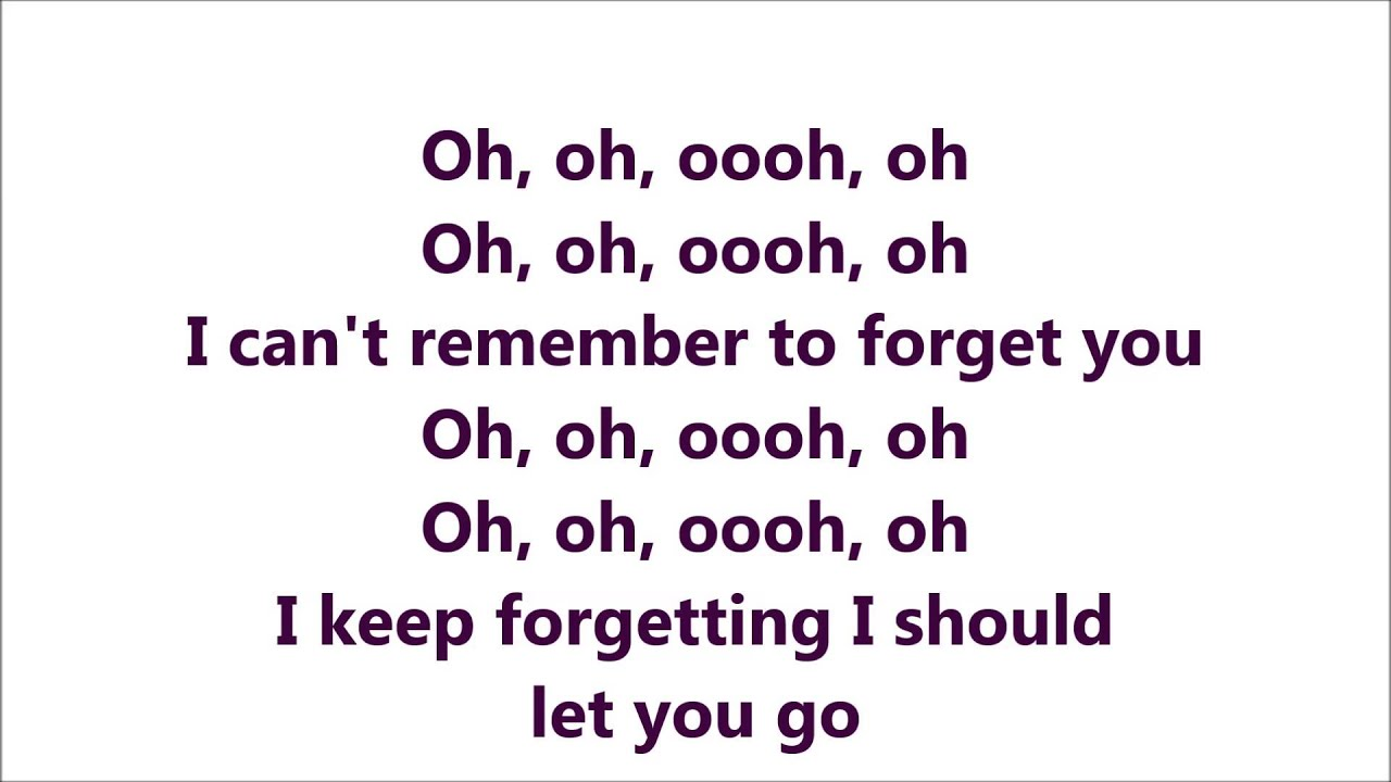 Shakira ft rihanna cant remember to forget you - 5 1