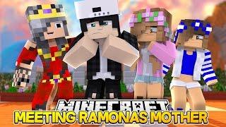MEETING RAMONAS MOM/RAVENS GRANDMA! Minecraft Ramona Life w/LittleKelly&Carly (Custom Roleplay)