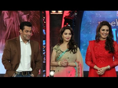 Madhuri Dixit & Huma Qureshi On The Sets Of Bigg Boss 7 To Promote Dedh Ishqiya video