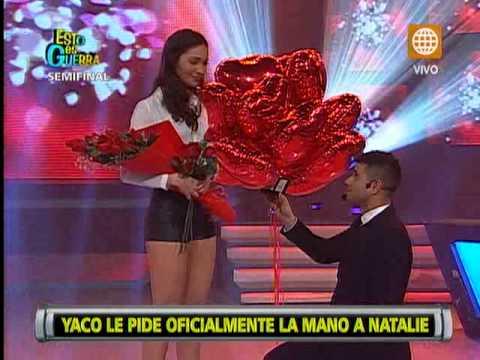 Yaco Eskenazi le pidió matrimonio a Natalie Vértiz  en 'Esto es Guerra'