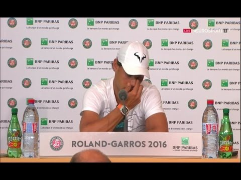 RAFAEL NADAL GIVES UP AT ROLAND GARROS 2016 :(