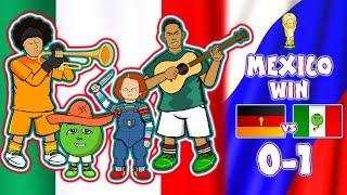 😲MEXICO beat GERMANY😲CHUCKY LOZANO GOAL! (World Cup Parody Goals Highlights)