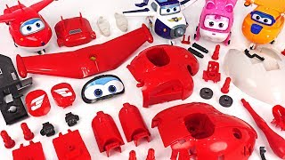 Dinosaurs and villains showed up! Super Wings! Make the Jett with Model Assembly Kit! #DuDuPopTOY