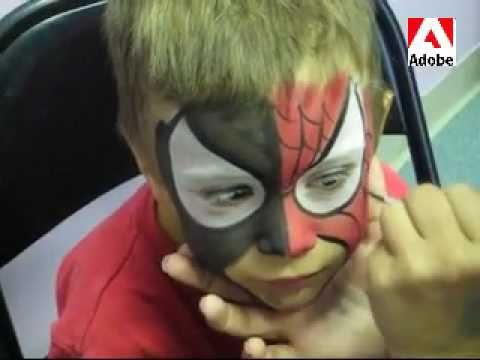 Easy Spiderman Face Pa...