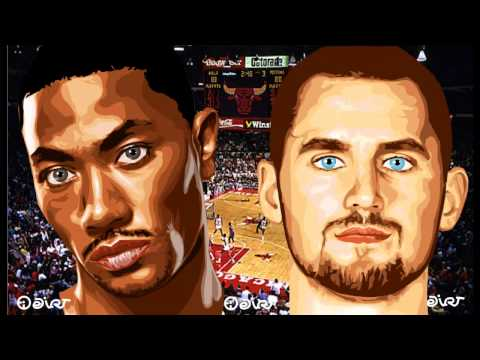 CHICAGO BULLS - MINNESOTA TIMBERWOLVES NBA Basketball Stars highlights Derrick Rose - Kevin Love