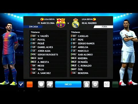 PES 2013 - BARCELONA vs REAL MADRID no SANTIAGO BERNABÉU (Gameplay PS3/X360/PC)