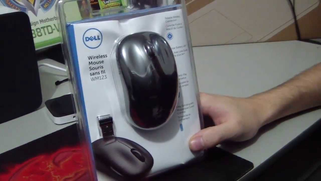 Unboxing Mouse Wireless Dell Wm123