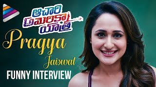 Pragya Jaiswal FUNNY Interview | Achari America Yatra Movie | Manchu Vishnu | Telugu FilmNagar