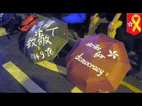 Hong Kong democracy protesters occupy more ground on China's National Day