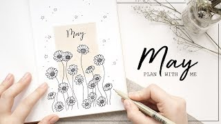 PLAN WITH ME | May 2018 Bullet Journal Setup