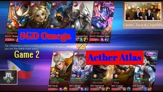 Aether Atlas vs SGD Omega Game 2 Semi Finals | Just ML League Season 1 | Mobile Legends Bang Bang