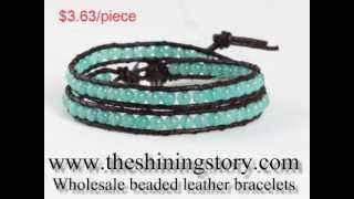 wholesale chan luu style beaded leather wrap bracelets DIY How to buy cheap wholesale online