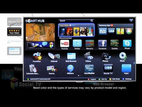 132409 SAMSUNG SMART TV LED UE40F5300- How to Use the Smart Hub Menu