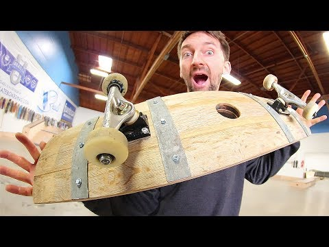 THE INCREDIBLE WINE BARREL SKATEBOARD! | YOU MAKE IT WE SKATE IT EP 163