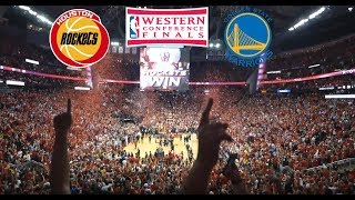 Attending 2018 NBA Western Conference Finals Game 5, Houston Rockets vs Golden State Warriors