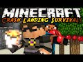 Minecraft Modded Crash Landing : LAVA AND TREE FARMS?!