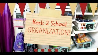Back to School Organization - Backpack station and school lunches!